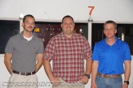 Service award for less than 5 Years Service:  Nick Campbell, A.J. Holmes and Owen Price.