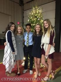 Crains Creek Middle School BETA Club Members worked as servers and support staff for the event and they included: Karleigh Taylor, Rebecca Cameron, Jordan Carr, Lillian Jolly and Phoebe Welton.